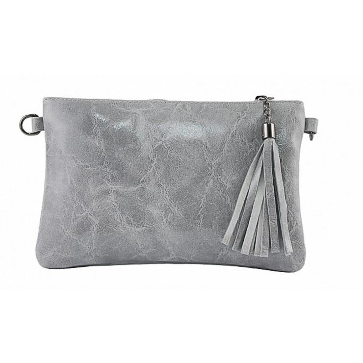 Kožená kabelka 750 šedá