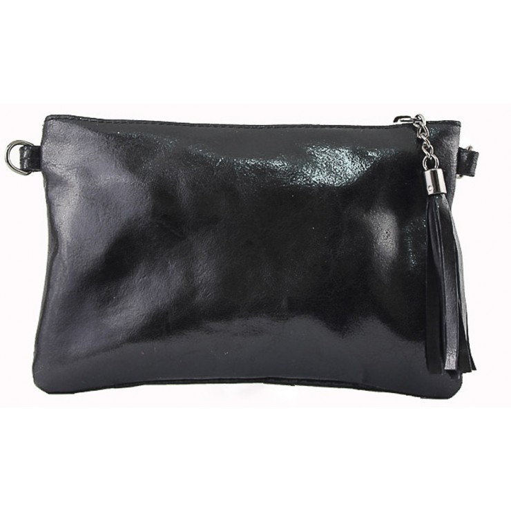 Genuine Leather Handbag 750 black
