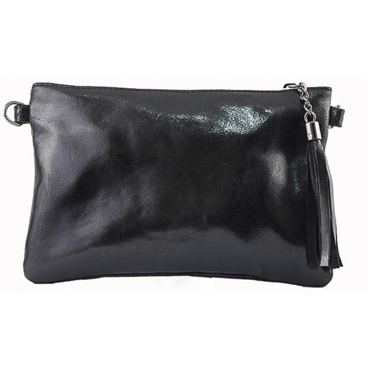 Kožená kabelka 750 čierna