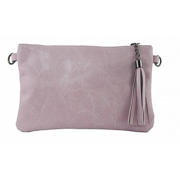Kožená kabelka 750 ružová