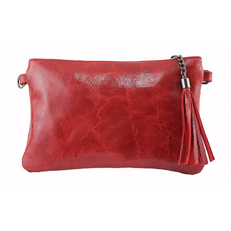 Kožená kabelka 750 rudá