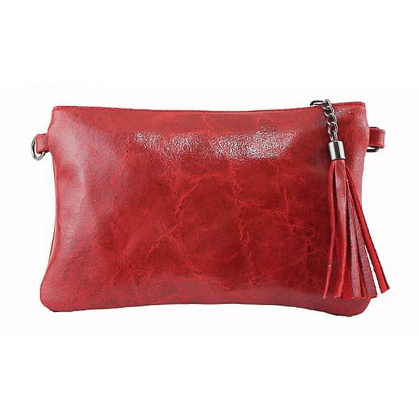 Kožená kabelka 750 červená