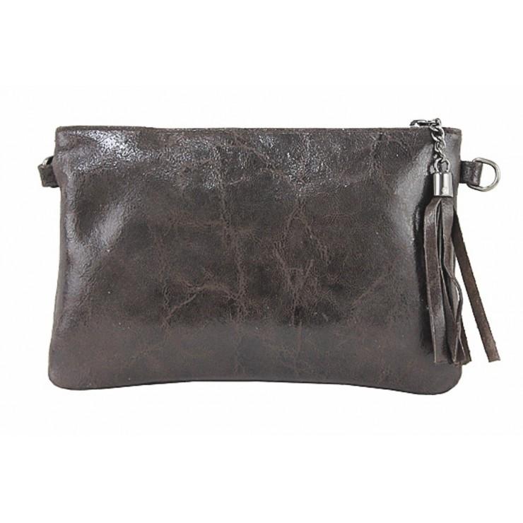 Kožená kabelka 750 tmavohnedá