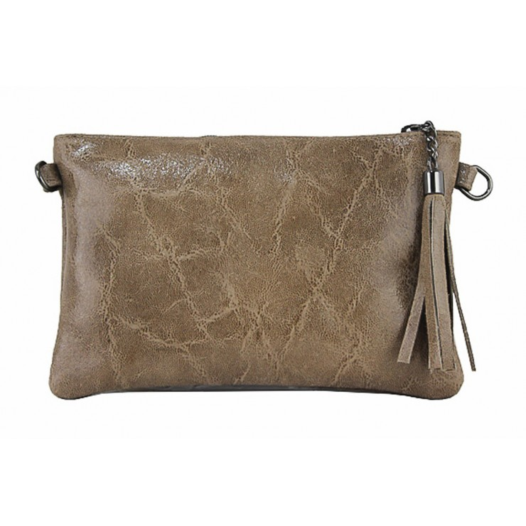 Genuine Leather Handbag 750 taupe