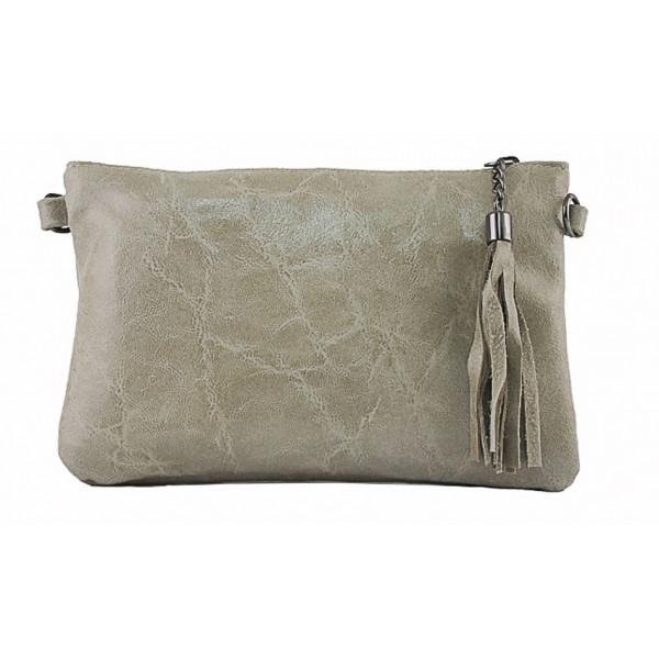 Kožená kabelka 750 svetlá šedohnedá