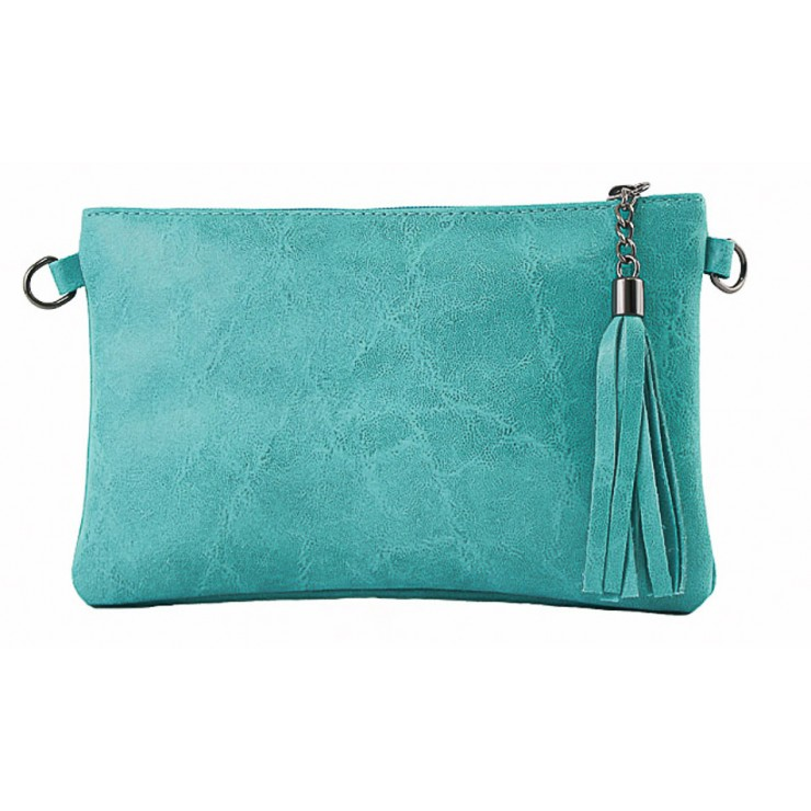 Genuine Leather Handbag 750 turquoise