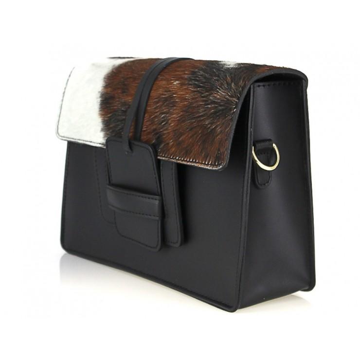 Woman Leather Handbag Pelliccia 497 beige