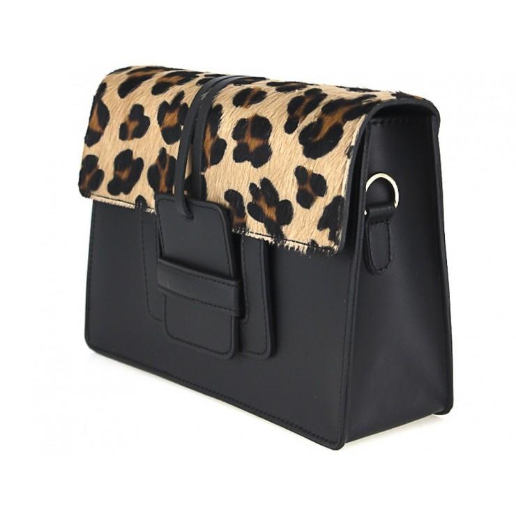 Woman Leather Handbag Pelliccia 497 leopard