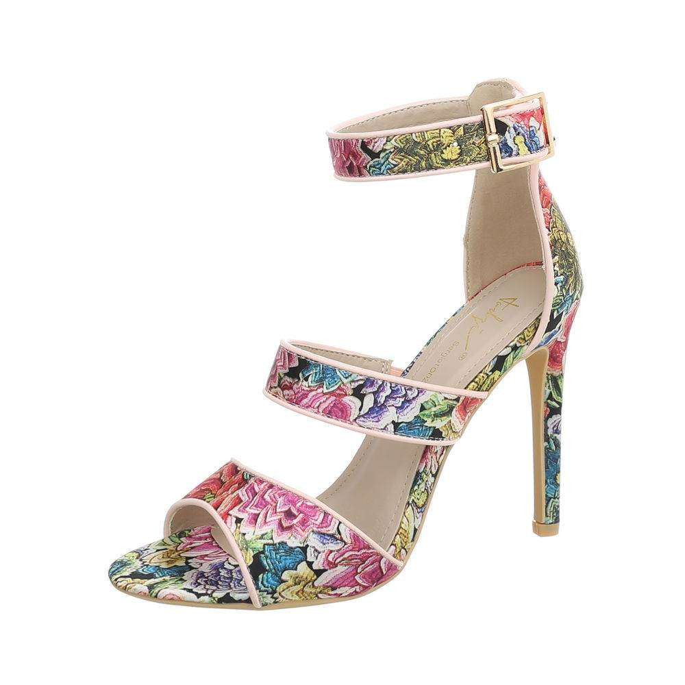 Sergio Todzi Leopard Strappy Crystal Sandals