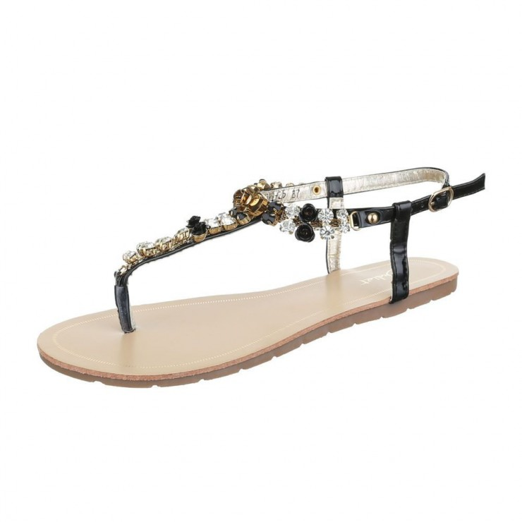 Sandále s kamienkami Juliet čierne