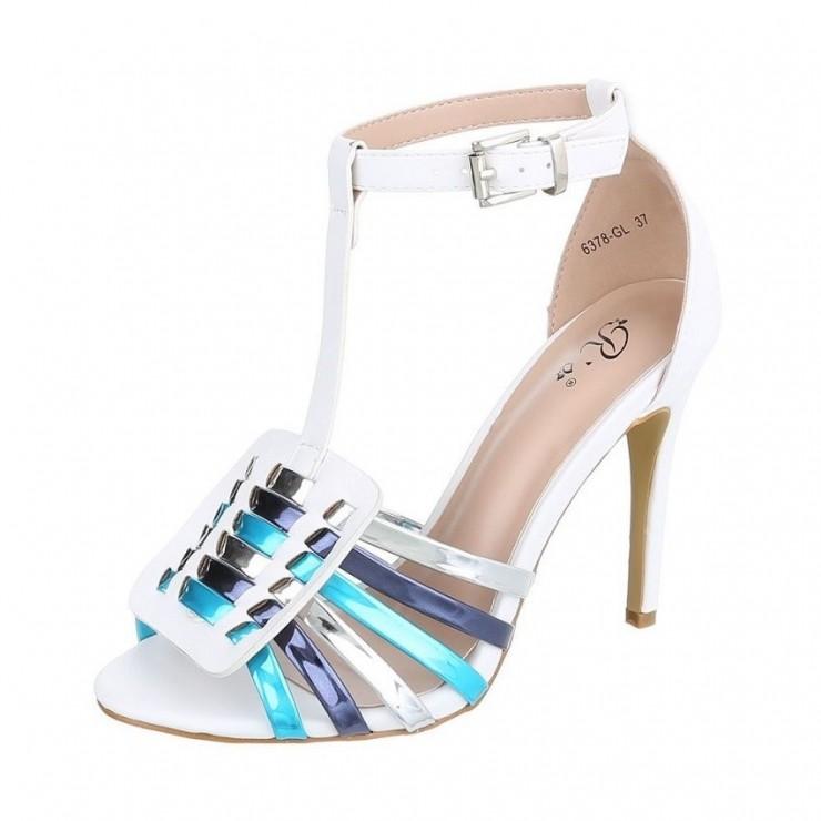 Biele  sandále 335