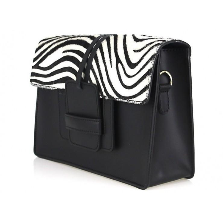 Woman Leather Handbag Pelliccia 497 white