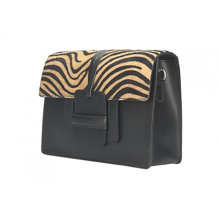 Woman Leather Handbag Pelliccia 497 brown
