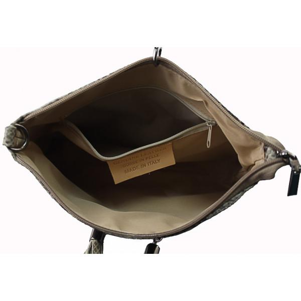 Kožená kabelka 1441 šedohnedá