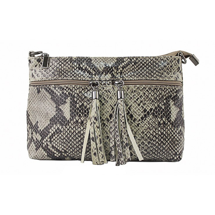 Woman Leather Handbag 1441 taupe