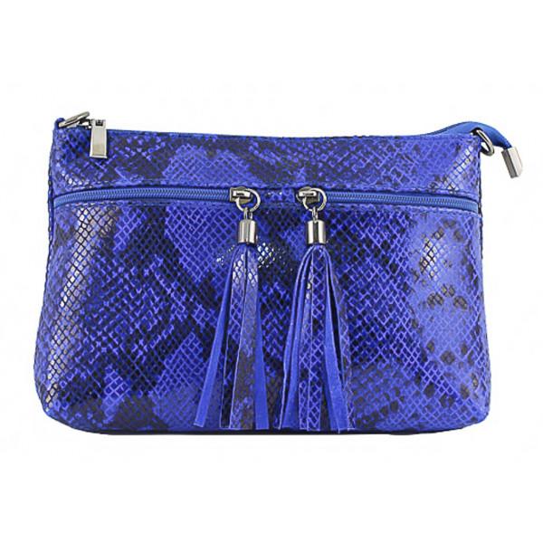 Kožená kabelka 1441 azurovo modrá