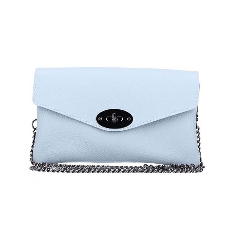 EchtLeder Handtasche 515 hellblau