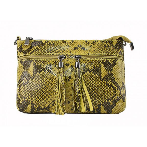 Kožená kabelka 1441 žltá