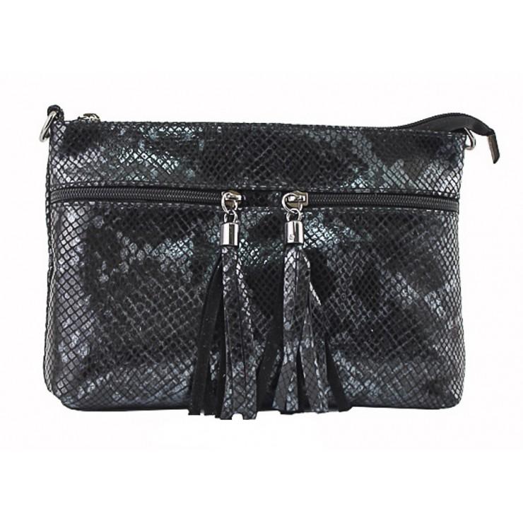 Kožená kabelka 1441 čierna