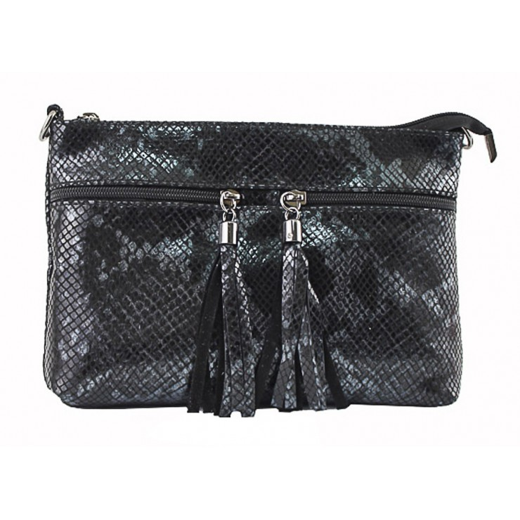 Woman Leather Handbag 1441 black