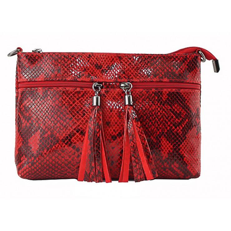 Kožená kabelka 1441 červená