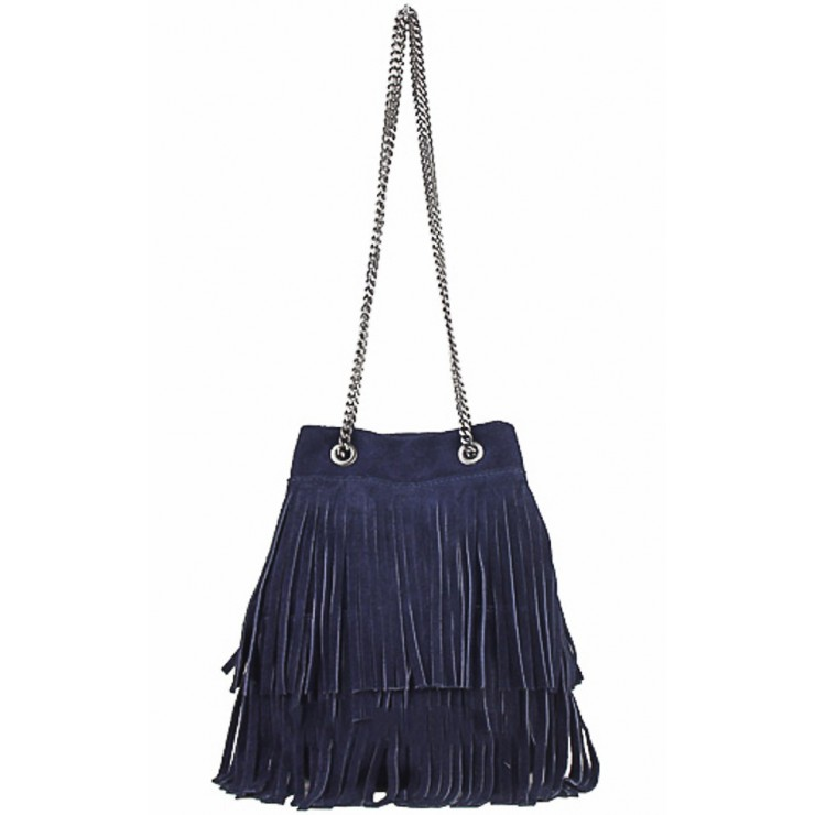Suede Leather Bag 429 blue