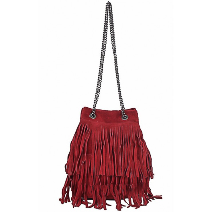 Suede Leather Bag 429 bordeaux