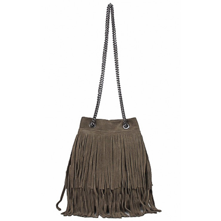 Suede Leather Bag 429 taupe