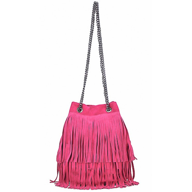 Suede Leather Bag 429 fuxia