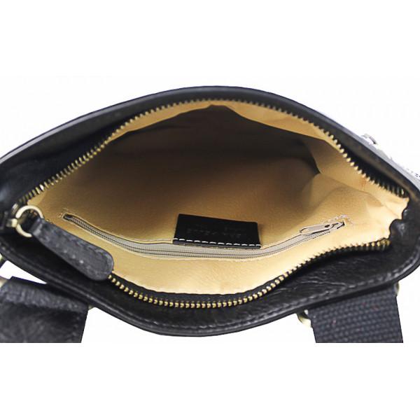 Pánska kožená taška na rameno 602 čierna Čierna