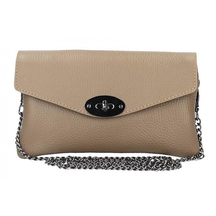 EchtLeder Handtasche 515 dunkel taupe