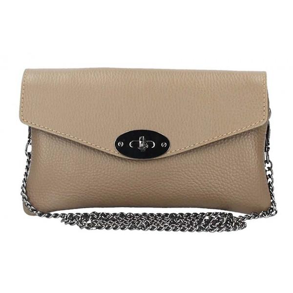 bdacde8820 Tmavá šedohnedá kožená kabelka na rameno 515 - MONDO ITALIA s.r.o.