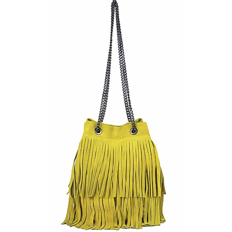 Suede Leather Bag 429 yellow