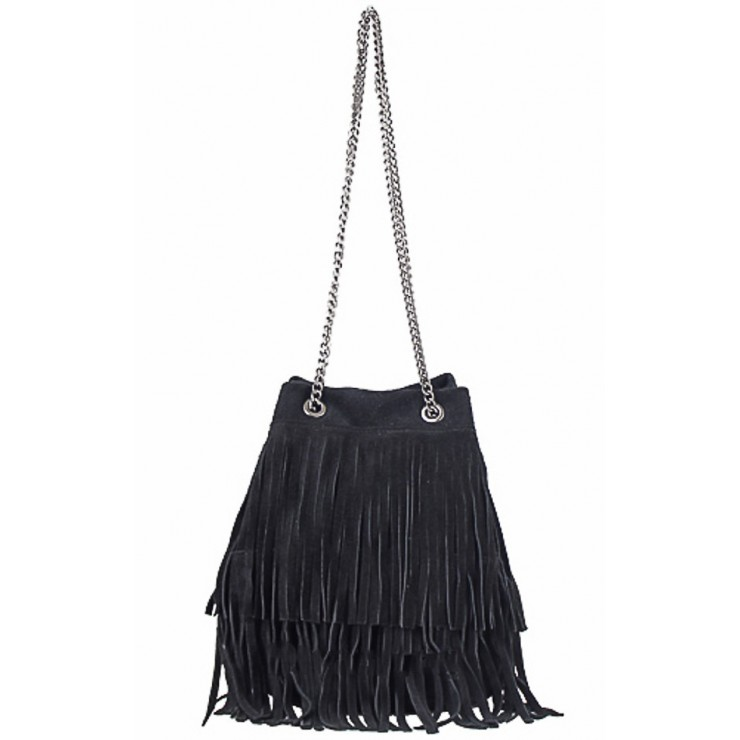 Suede Leather Bag 429 black