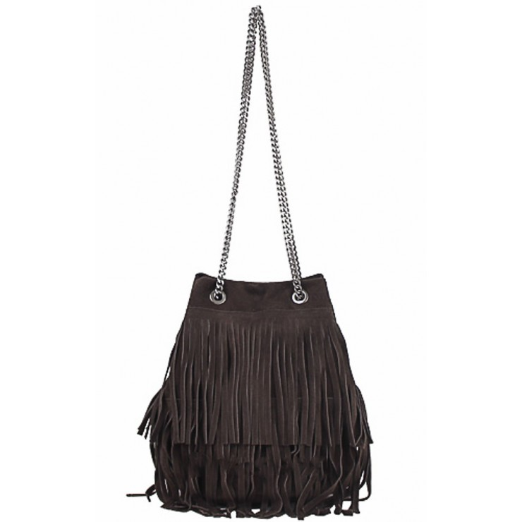 Suede Leather Bag 429 dark taupe