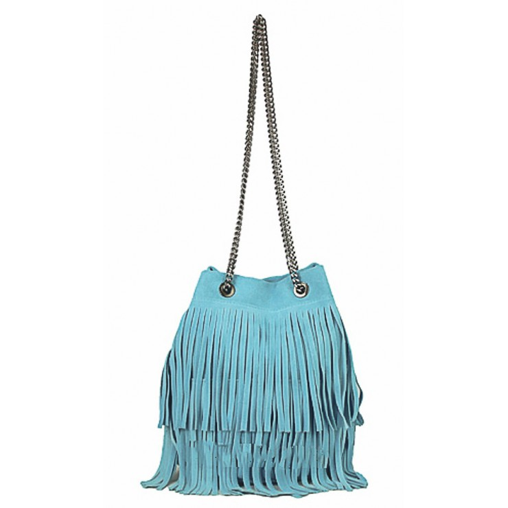 Suede Leather Bag 429 turquoise