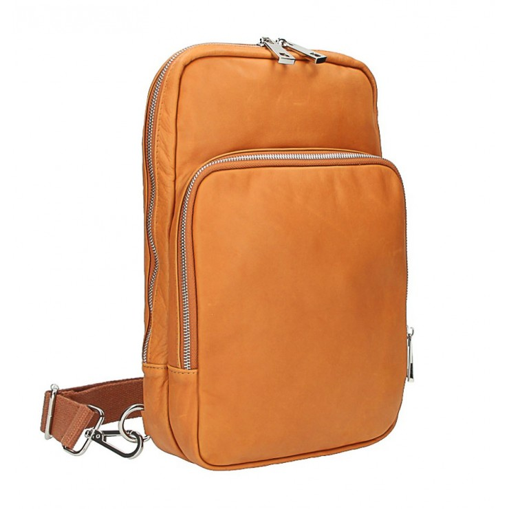 Kožený batoh na rameno koňak