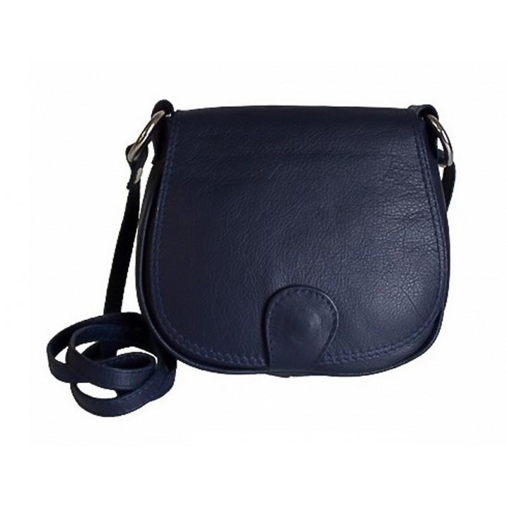 Kožená kabelka na rameno 923 modrá