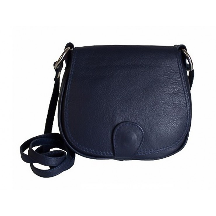 Leather Messenger Bag 923 blue