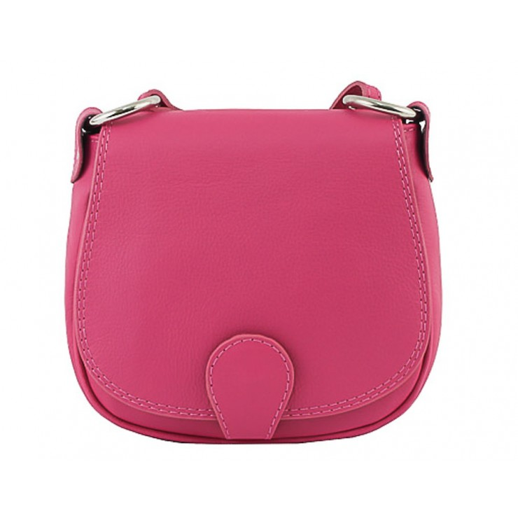 Leather Messenger Bag 923 fuxia