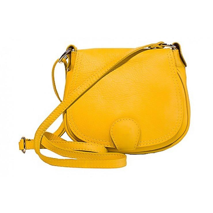 Kožená kabelka na rameno 923 žltá