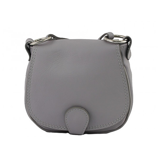 Kožená kabelka na rameno 923 šedá
