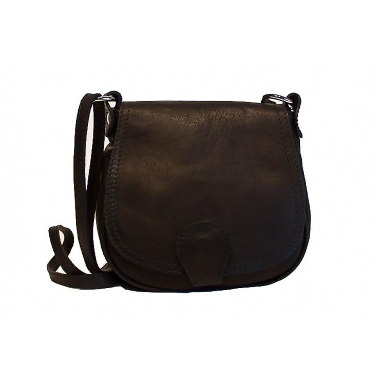 Kožená kabelka na rameno 923 černá