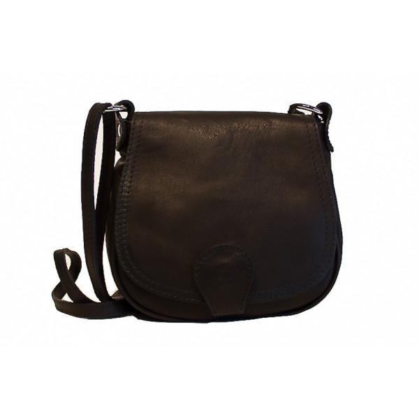 Kožená kabelka na rameno 923 čierna