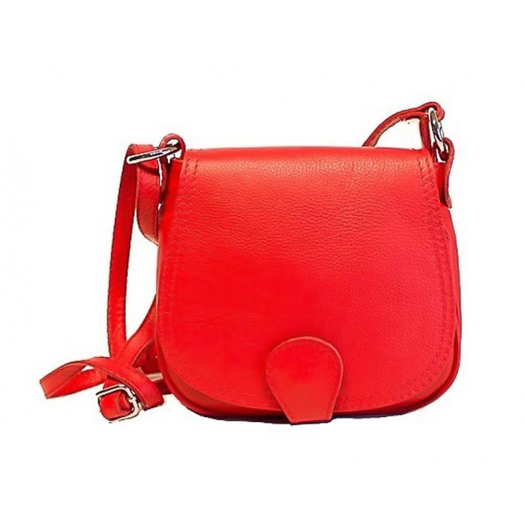 Kožená kabelka na rameno 923 rudá