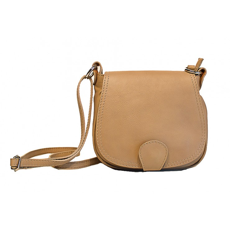 Leather Messenger Bag 923 taupe
