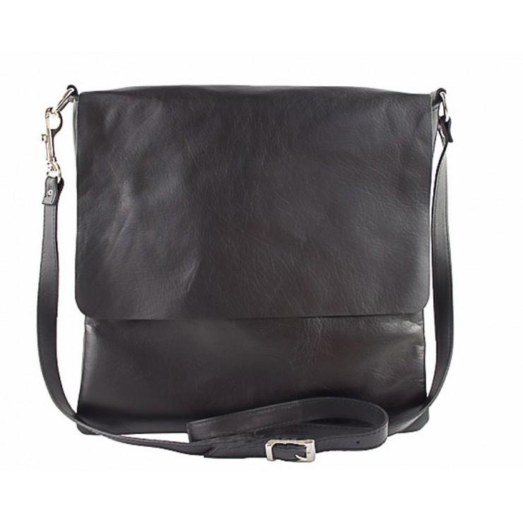 Pánska kožená taška 435 čierna