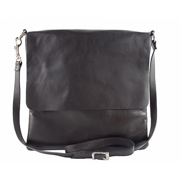 Pánska kožená taška 435 čierna Čierna