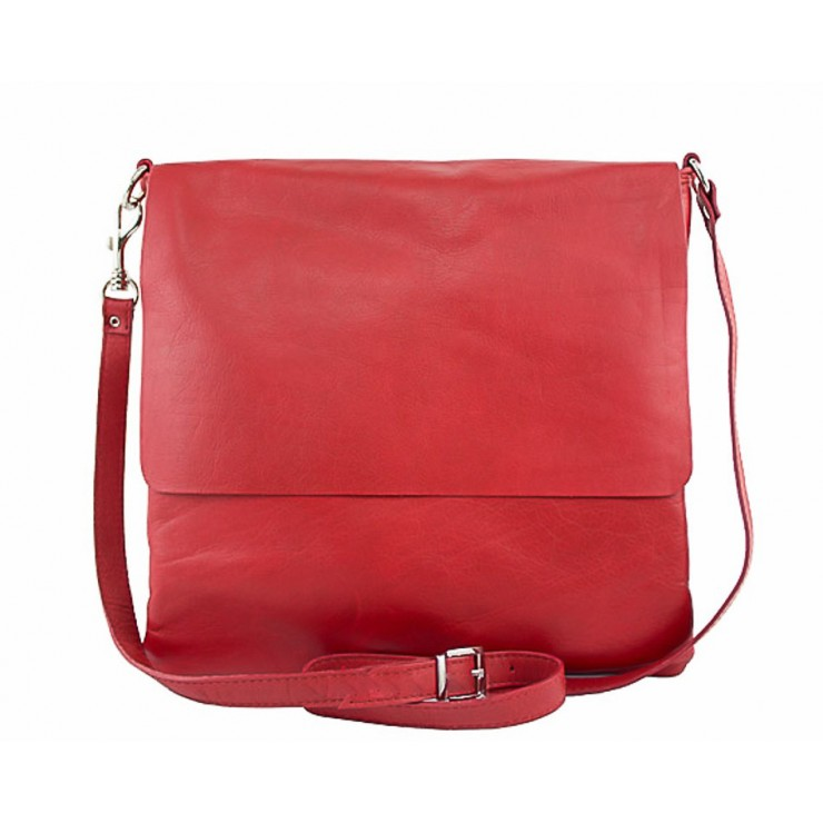 Pánská kožená taška 435 rudá