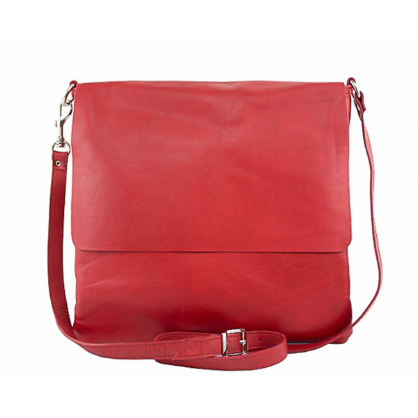 Pánska kožená taška 435 červená Červená